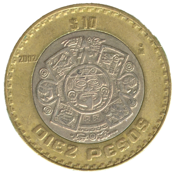 Mexican 10 Peso Coin Back High Res Version Transpa Png