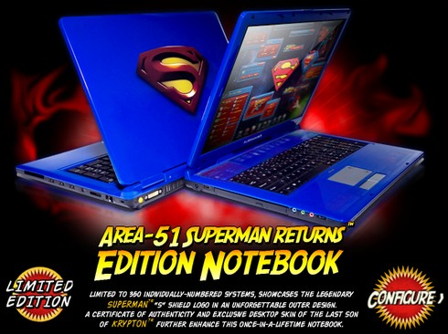 Ok, this absolutely rocks: a Superman-themed Alienware notebook!
