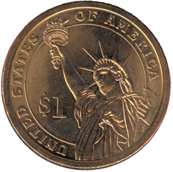 American-$1-Coin-Back