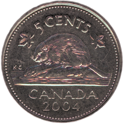 Canadian-5-Cent-Nickel-Tails