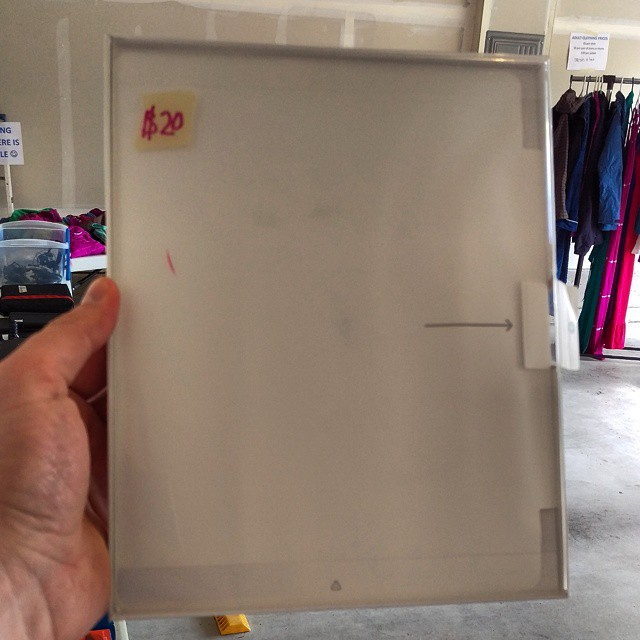 Apparently someone didn't want to pay for the iPad Smart Cover at my garage sale and decided to steal it instead.