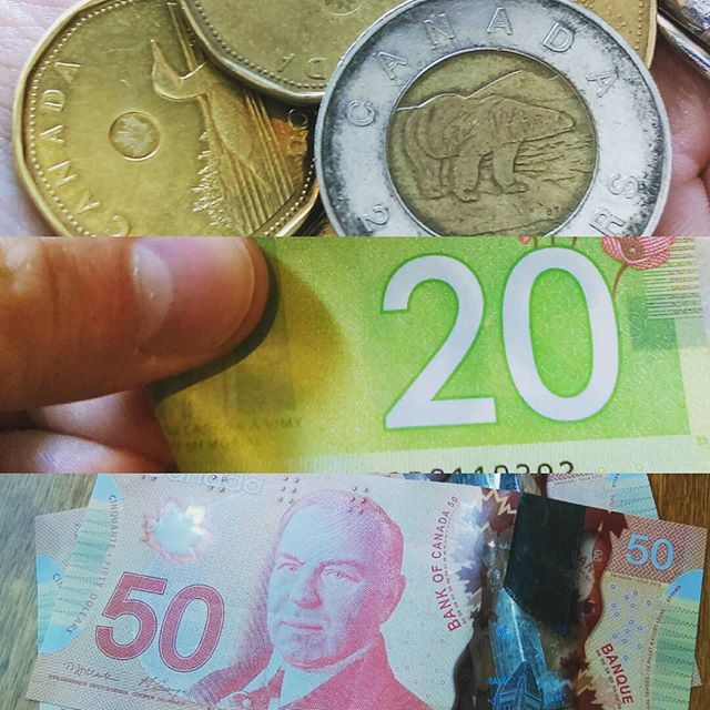 One of the things I miss about Canada: our money is both beautiful and tough.