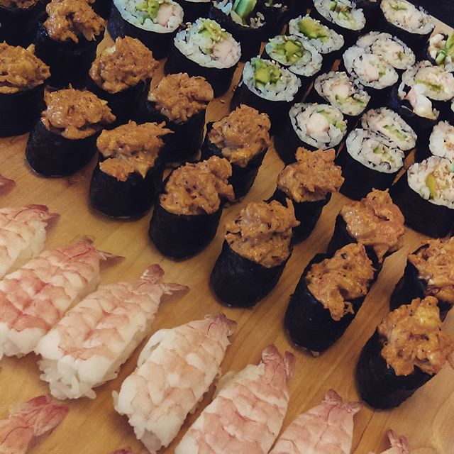 The birthday present I requested from my brother: his amazing home made #sushi the next time I was in town. #nomnom @therealaarondunn