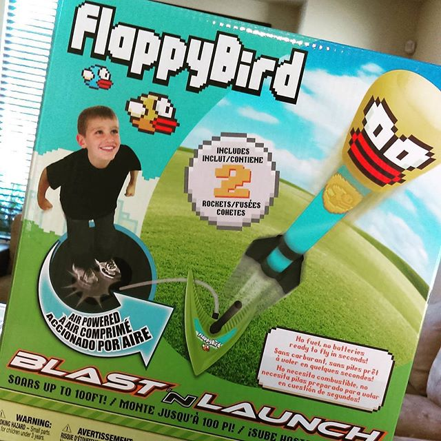 I'm fascinated that this flash-in-the-pan mobile game was licensed for a physical toy. My son had fun with this birthday present from a friend.